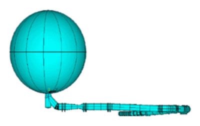Nonlinear Buckling & Fatigue Analysis of a Large Diameter Sphere & Its Complex Ductwork Under Transient External Pressure (MODEL)