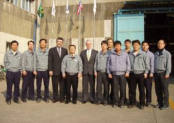 Mr. Khalil Rabiei visit to Hantech in South Korea in 2011.